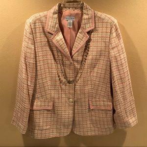 Jaclyn Smith tweed blazer